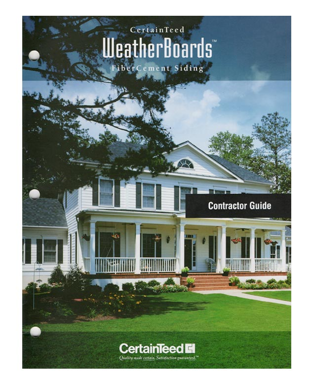 CertainTeed FiberCement Siding WeatherBoards